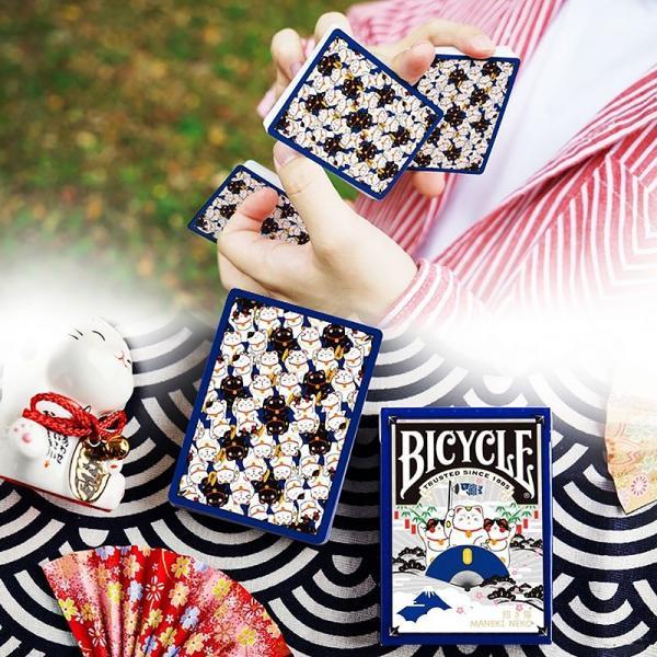 Bicycle Maneki Neko (BLUE) Playing Cards by Bocopo