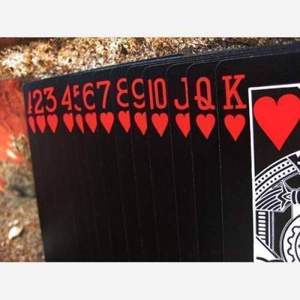 Bicycle - Black Deck Tiger Red by Ellusionist