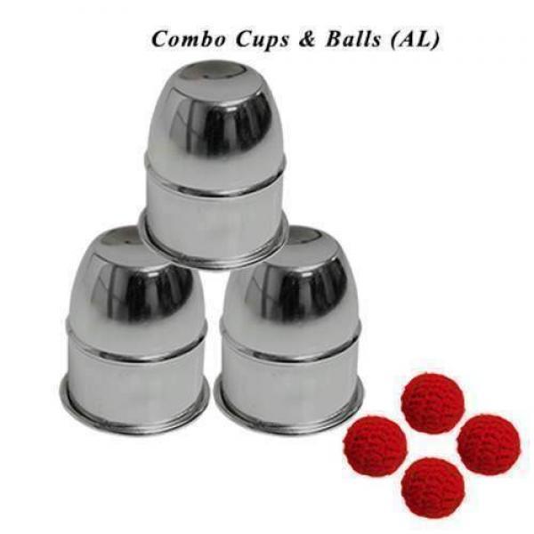 Combo Cups & Balls (aluminum) by Premium magic