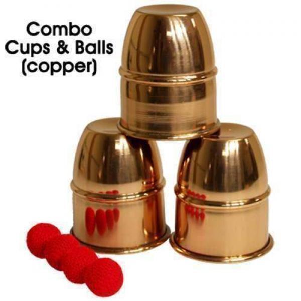 Combo Cups & Balls (Copper) by Premium magic