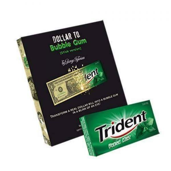 Dollar to Bubble Gum (Trident) by Twister Magic - ...