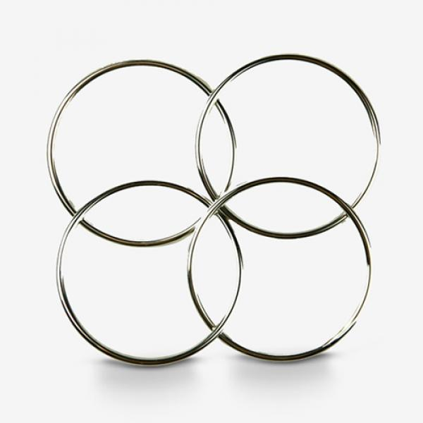 Deluxe 4.5 inch Linking Rings (Set of 4 - Chrome) ...