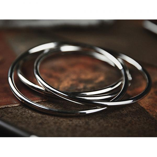 Deluxe 4.5 inch Linking Rings (Set of 4 - Chrome) by J.C Magic