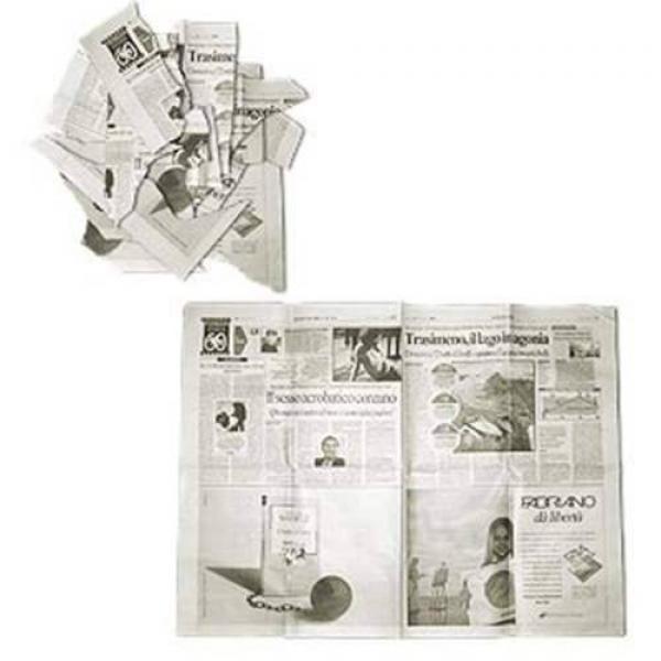Newspaper torn