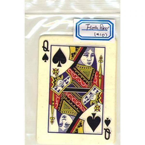 Flash Poker Card Queen of Spades (Ten Pack)