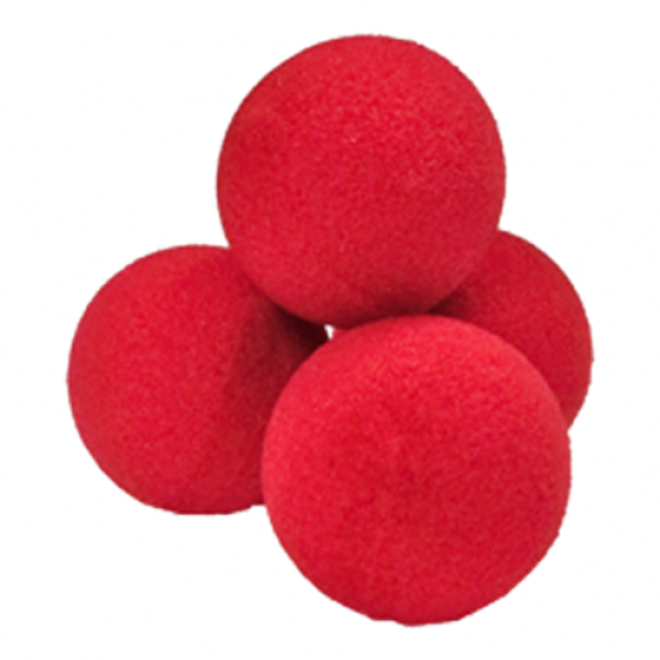 Soft sponge balls - Set of 4 balls 3.5 cm - Red