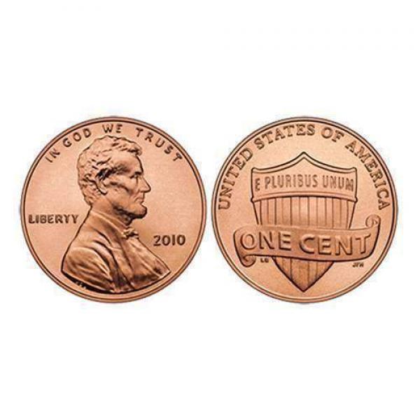 U.S. Penny ungimmicked - single piece