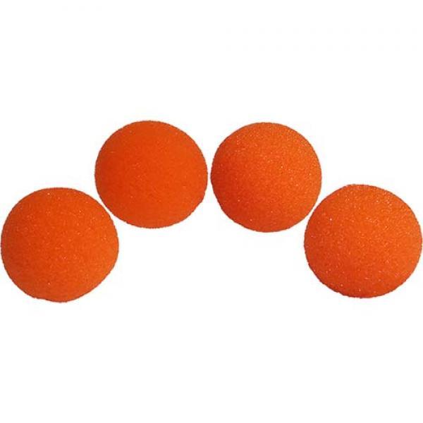 1 inch Super Soft Sponge Ball (Orange) Pack of 4 f...