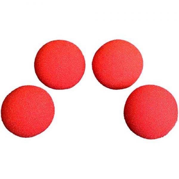1 inch Super Soft Sponge Ball (Red) Pack of 4 from...