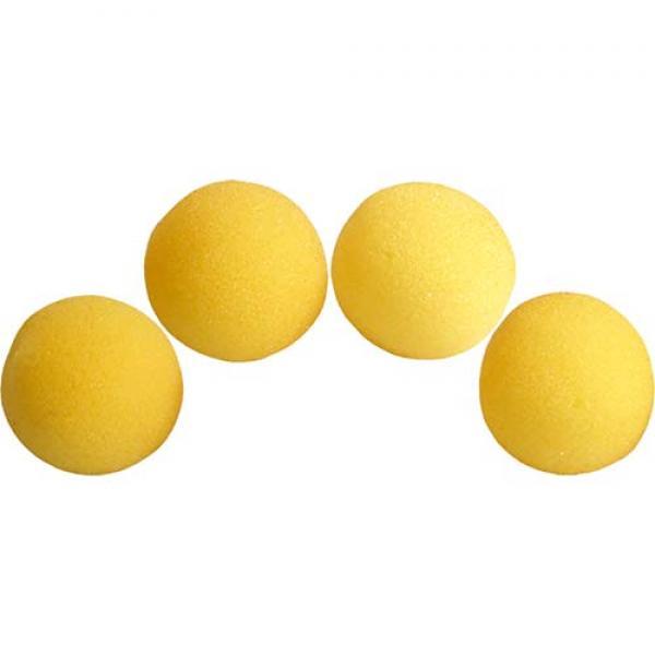 1.5 inch Super Soft Sponge Balls (Yellow) Pack of ...