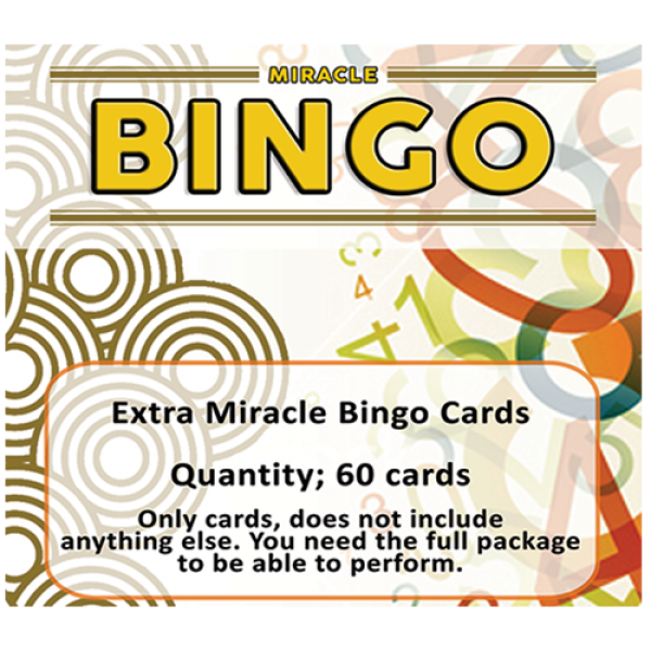 Extra Cards (60 cards) for Miracle Bingo by Doruk ...