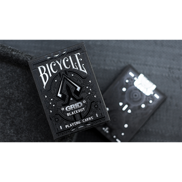 Limited Edition Bicycle Grid Blackout Playing Card...