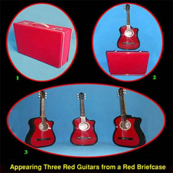 Appearing Guitars from Briefcase (3/Red) by Black ...