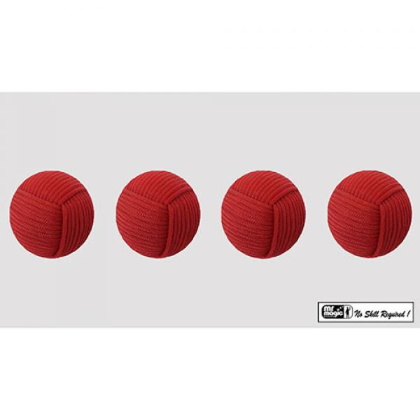 Rope Balls 1 inch / Set of 4 (Red) by Mr. Magic