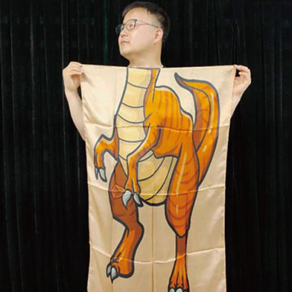 Character Silk (Dinosaur) 35 X 43  by JL Magic