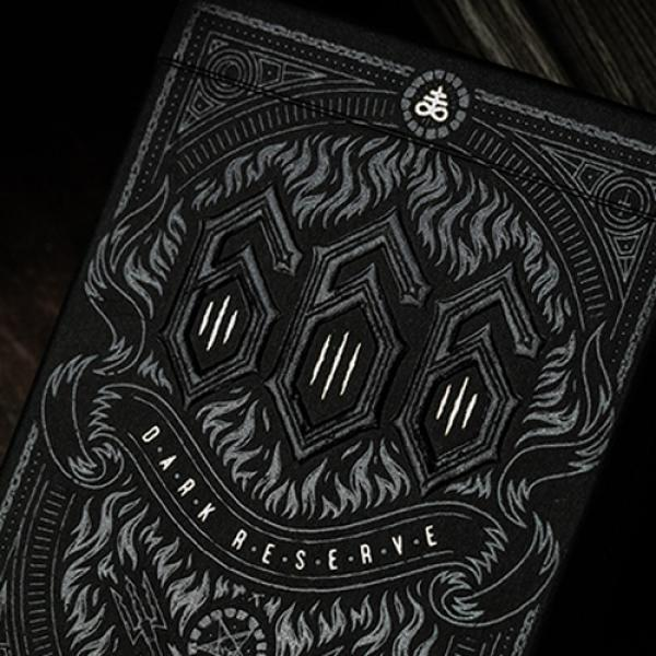 666 Dark Reserves (Silver Foil) Playing Cards by R...