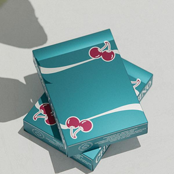 Cherry Casino (Tropicana Teal) Playing Cards by Pu...