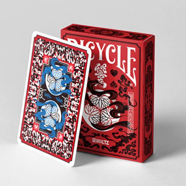 Bicycle Edo Karuta (Red) Playing Cards