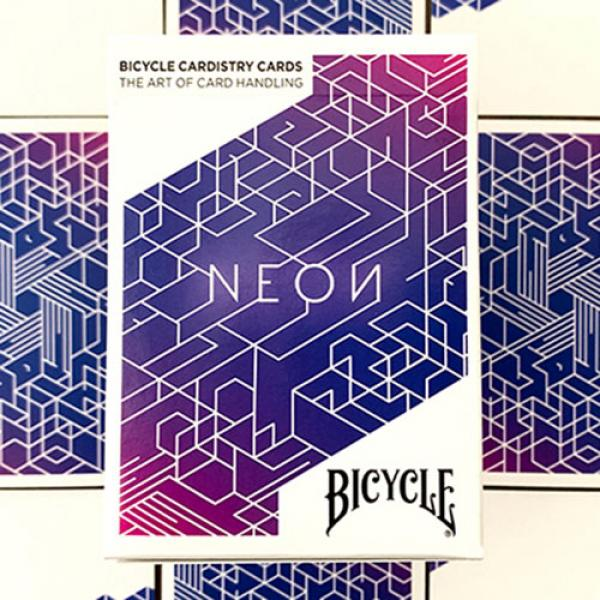Bicycle Neon Cardistry Blue Aurora Playing Cards