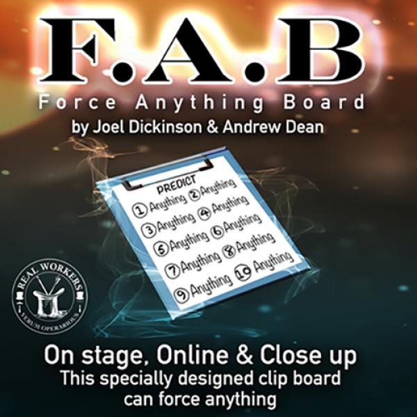 FAB BOARD A4/BLACK (Gimmicks and Online Instruction) by Joel Dickinson & Andrew Dean
