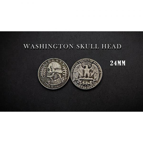 WASHINGTON SKULL HEAD COIN by Men Zi  Magic