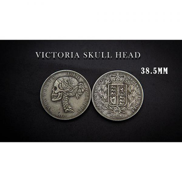 VICTORIA SKULL HEAD COIN by Men Zi  Magic