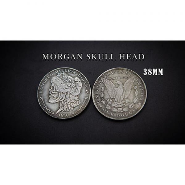 MORGAN SKULL HEAD COIN by Men Zi  Magic