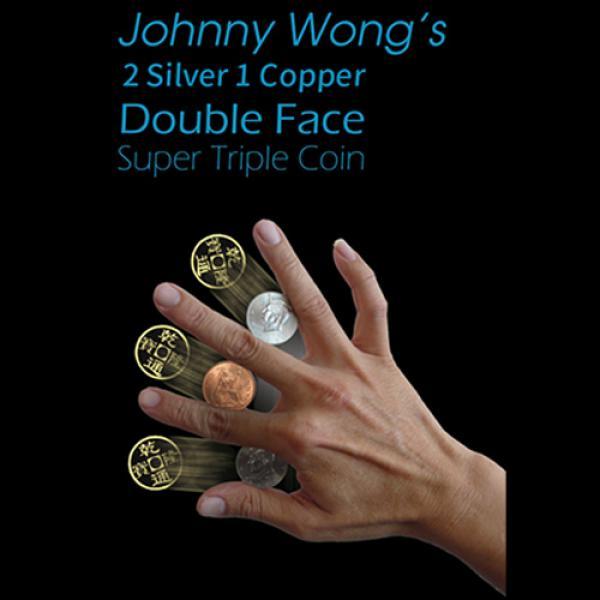 2 Silver 1 Copper Double Face Super Triple Coin (w...