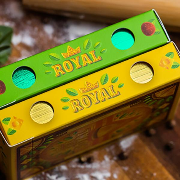 The Royal Pizza Palace (Gilded) Playing Cards Set by Riffle Shuffle