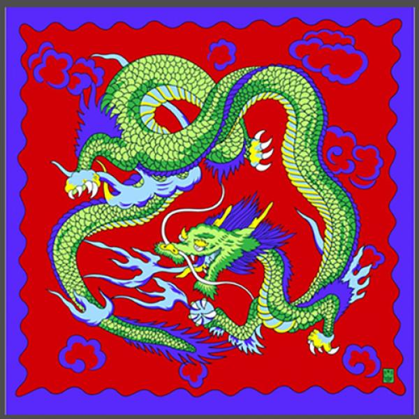 "Rice Symphony Silk 36"" (Red Dragon) by Silk King Studios"