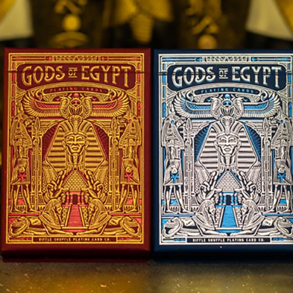 Gods of Egypt (Blue) Playing Cards by Divine Playi...