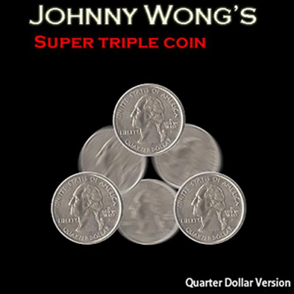 Super Triple Coin QUARTER (with DVD) by Johnny Won...