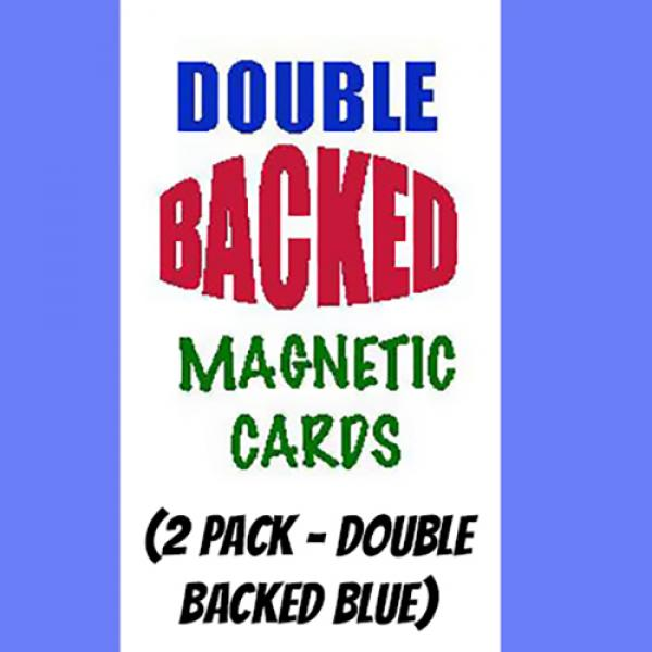 Magnetic Cards (2 pack/double back blue) by Chazpr...