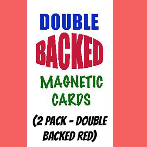 Magnetic Cards (2 pack/double back red) by Chazpro...
