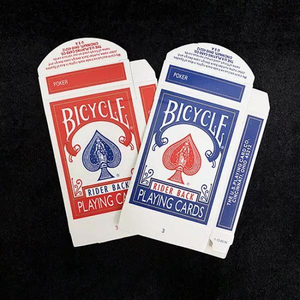 Bicycle Rider Back Card Box Blue