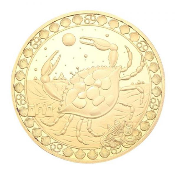 Commemorative Constellation Coin Cancer