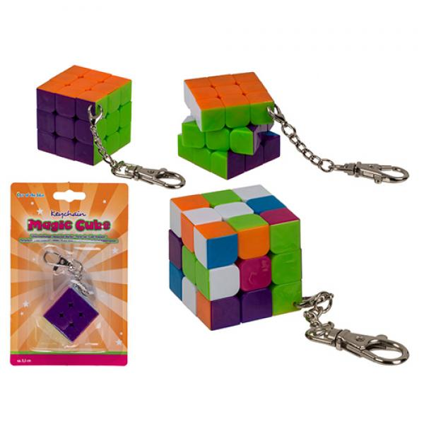 Magic cube keychain