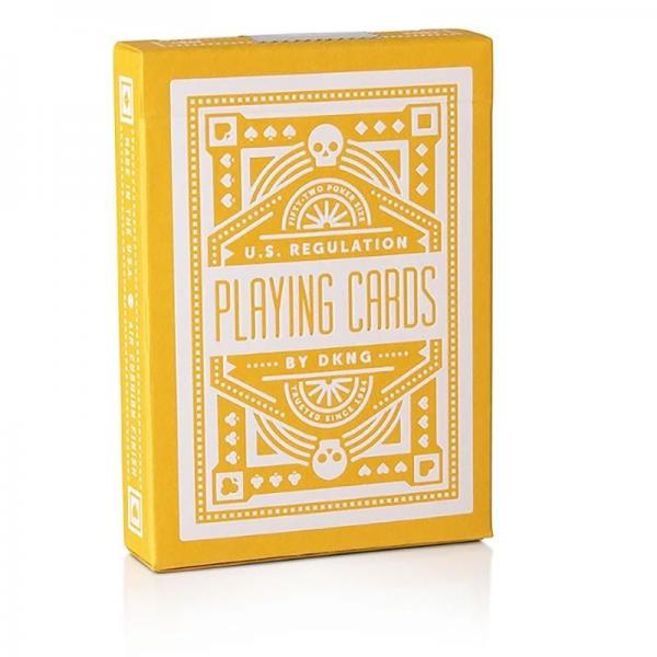 DKNG Yellow Wheels Playing Cards by Art of Play