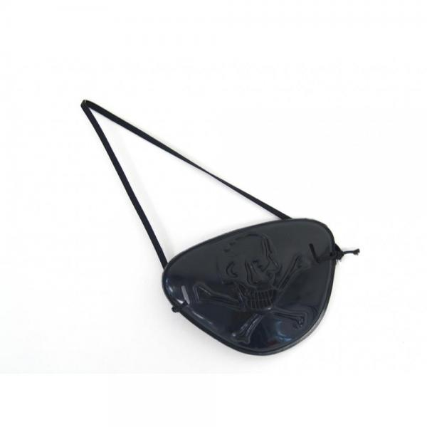 Plastic eye patch with relief - black