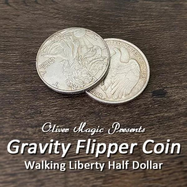 Gravity Flipper Coin (Walking Liberty Half Dollar)...