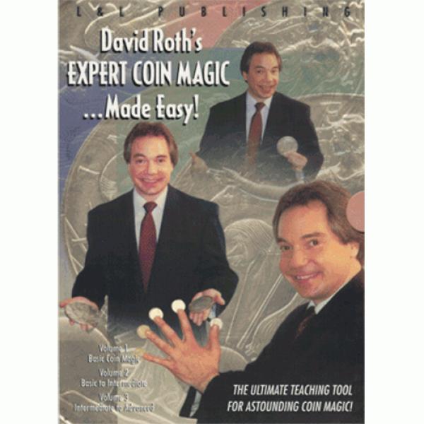 David Roth Expert Coin Magic Made Easy (3 Vol. set...