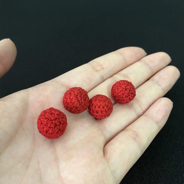 Crochet Ball Mini - Red 1.2 cm