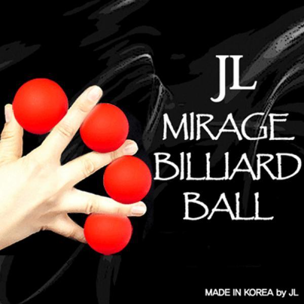 2 Inch Mirage Billiard Balls by JL (RED, 3 Balls a...
