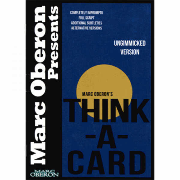 Thinka-Card (ungimmicked version) by Marc Oberon -...