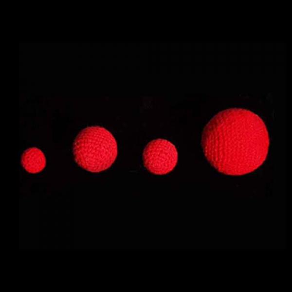 1.75 inch Crochet Balls (Red) by Uday