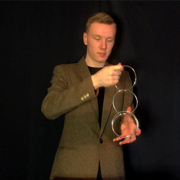 GIR Ring Set BLACK CHROME (Gimmick and Online Instructions) by Matthew Garrett
