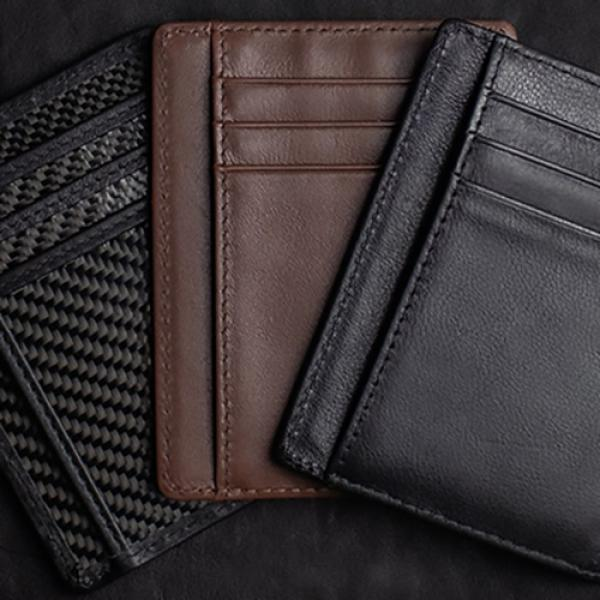 Limited Edition Shadow Wallet Bourbon Tan Leather (Gimmick and Online Instructions) by Dee Christopher and 1914
