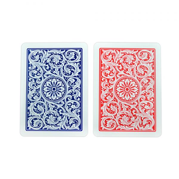 Copag 1546 Plastic Playing Cards Poker Size Regular Index Red and Blue Double-Deck Set